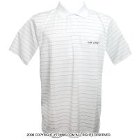 カッターアンドバック(Cutter & Buck)USオープンテニス オフィシャル商品 メンズ ポロシャツ ストライプ ホワイト/グレー
