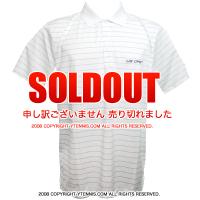 セール品 カッターアンドバック(Cutter & Buck)USオープンテニス オフィシャル商品 メンズ ポロシャツ ストライプ ホワイト/グレー