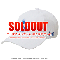 アンダーアーマー(UNDER ARMOUR)×IMG(ニック・ボロテリー テニスアカデミー) オフィシャル ロゴ入りメッシュキャップ ホワイト/ブルー