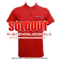 セール品 フレンチオープンテニス ローランギャロス メンズ ポロシャツ レッド 国内未発売 全仏オープン