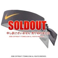 ナイキ(Nike)ドライフィット ヘッドタイ ラファエル・ナダル BNPパリバ・オープンシグネチャーモデル グレー/レーザーオレンジ