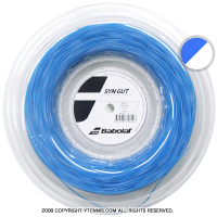 【新パッケージ】バボラ(BabolaT) SYNガット(SYN Gut) ブルー 1.25mm/1.30mm/1.35mm 200mロール ナイロンストリングス