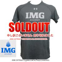 アンダーアーマー(UNDER ARMOUR)×IMG(ニック・ボロテリー テニスアカデミー) メンズ Tシャツ ヒートギア グレー