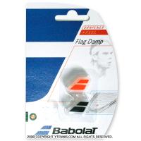 バボラ(Babolat)ロゴ 振動止め フラッグダンプナー ブラック/オレンジ