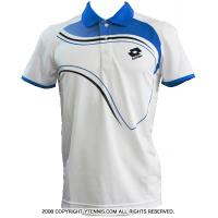 ロット(Lotto) メンズ ポロシャツ グラフィックLED ホワイト/ディープネイビー/ブルームーン 国内未発売モデル