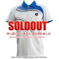 セール品 ロット(Lotto) メンズ ポロシャツ グラフィックLED ホワイト/ディープネイビー/ブルームーン 国内未発売モデル
