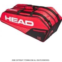 ヘッド(HEAD) 2019年モデル コア コンビ ラケット6本用 レッド/ブラック 国内未発売 テニスバッグ ラケットバッグ