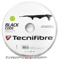 【旧パッケージ アウトレット】テクニファイバー(Tecnifiber) ブラックコード ライム(Black Code Lime) 1.28mm/1.24mm 200mロール ポリエステルストリングス