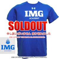 アンダーアーマー(UNDER ARMOUR)×IMGアカデミー(ニック・ボロテリー テニスアカデミー) メンズ Tシャツ ヒートギア ブルー