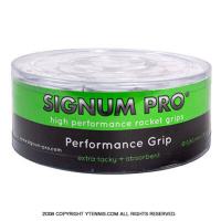 【新品アウトレット】シグナムプロ(SIGNUM PRO) パフォーマンスグリップ(PERFORMANCE GRIP) ホワイト 30パック 0.60mm オーバーグリップテープ