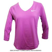 ナイキ(Nike) 2016年モデル ピュア 3/4スリーブトップ シャツ ヴィオラ