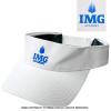 セール品 UNDER ARMOUR)×IMG(ニック・ボロテリー テニスアカデミー) オフィシャル アジャスタブルヒートギアバイザー ホワイト/ブルー