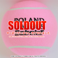 バボラ(BabolaT)×フレンチオープン ローランギャロス 5インチ ミニジャンボテニスボール ピンク 全仏オープンテニス 国内未発売