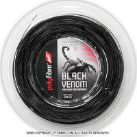 ポリファイバー(Polyfibre) ブラックヴェノム(Black Venom) 1.30mm/1.25mm/1.20mm/1.15mm 200mロール ポリエステルストリングス ブラック
