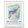 ウィンブルドン 2008 額付オフィシャルポスター 全英オープンテニス