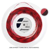 【新パッケージ】バボラ(BabolaT)シンセティックガット 1.35mm/1.30mm/1.25mm レッド (Synthetic Gut Red) ナイロンストリングス 200m ロール