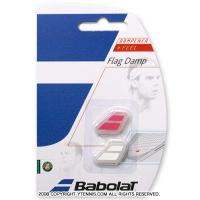 バボラ(Babolat)ロゴ 振動止め フラッグダンプナー マゼンタ/ホワイト