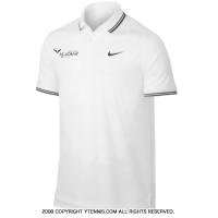 ナイキ(Nike) ラファエル・ナダル アカデミー ブルロゴ入り ポロシャツ ホワイト 国内未発売