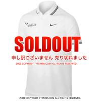 セール品 ナイキ(Nike) ラファエル・ナダル アカデミー ブルロゴ入り ポロシャツ ホワイト 国内未発売