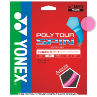 【12mカット品】ヨネックス(YONEX) ポリツアースピン(Poly Tour Spin) 1.25mm ポリエステルストリングス ピンク テニス ガット ノンパッケージ