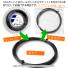 【12mカット品】ヨネックス(YONEX) ポリツアーレブ (Poly Tour REV) ブライトオレンジ 1.20mm/1.25mm/1.30mm ポリエステルストリングス テニス ガット テニス ガット ノンパッケージの画像2