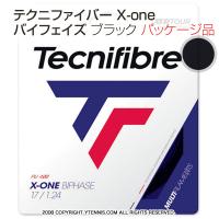 テクニファイバー(Tecnifiber) X-ONE バイフェイズ(biphase) ブラック 1.24mm/1.30mm ナイロンストリングス テニス ガット パッケージ品