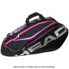セール品 ヘッド(Head) ツアー リミテッド モンスターコンビ ラケット12本程度用 国内未発売 テニスバッグ ブラック/シルバー/ピンク ラケットバッグ