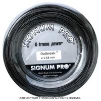 シグナムプロ(SIGNUM PRO) アウトブレイク(outbreak) 1.30mm/1.24mm/1.18mm 200mロール ポリエステルストリングス グレーブラック