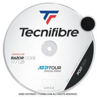 【新パッケージ】テクニファイバー(Tecnifiber) レーザーコード(Razor Code) 1.30mm/1.25mm/1.20mm 200mロール ポリエステルストリングス カーボン