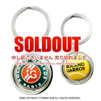 フレンチオープンテニス ローランギャロス オフィシャル商品 ボールロゴデザイン キーリング 全仏オープン