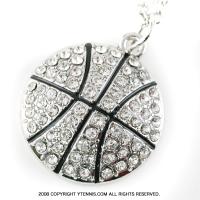 スポーツシリーズ:バスケットボール クリスタル ネックレス