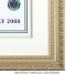 激激レア!! 世界限定10枚 ウィンブルドンテニス 2008 フェデラー・ ナダル直筆サイン入り 高級額付ポスター 証明書付きの画像5