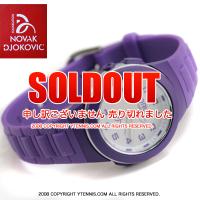 セール品 NDFノバクジョコビッチファウンデーション LORUS キッズ・レディースサイズ 腕時計 ジョコビッチモデル パープル