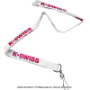 セール品 ケースイス(K-SWISS)シンプルロゴネックストラップ ホワイト 国内未発売