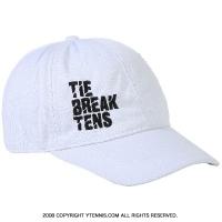 タイブレークテニス(TIE BREAK TENS) 刺繍ロゴ入り キャップ ホワイト