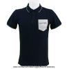 フレンチオープンテニス ローランギャロス メンズ アランバリ ポロ コントラスト ポケット ポロシャツ ネイビー 国内未発売 全仏オープン