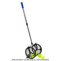 歩きながらボールを回収! ノーブランド 自立式テニスボール収集器 ボール回収