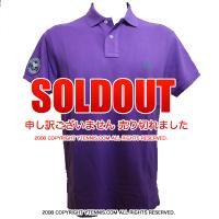 セール品 Wimbledon(ウィンブルドン) オフィシャル商品 ポロ・ラルフローレン ポロシャツ パープル全英オープンテニスEmpire Purple