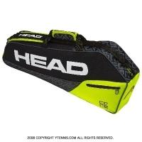 セール品 ヘッド(HEAD) 2019年モデル コア プロ ラケット3本用 ブラック/ライム 国内未発売 テニスバッグ ラケットバッグ