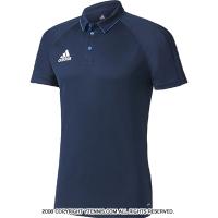 国内正規品 アディダス(Adidas) トレーニングポロシャツ ネイビー/ブルー/ホワイト