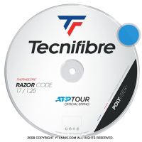 テクニファイバー(Tecnifiber) レーザーコード(Razor Code) 1.30mm/1.25mm/1.20mm 200mロール ポリエステルストリングス ブルー