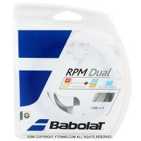 【12mカット品】バボラ(Babolat) RPMデュアル(RPM DUAL) ブラック 1.30mm/1.25mm ポリエステルストリングス ノンパッケージ