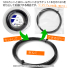 【12mカット品】ルキシロン(LUXILON) アルパワースピン(ALU POWER Spin) 1.27mm BIG BANGER ポリエステルストリングス グレー テニス ガット ノンパッケージの画像2
