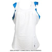フィラ(Fila) ベースラインシリーズ フリルタンク ホワイト/ブルー