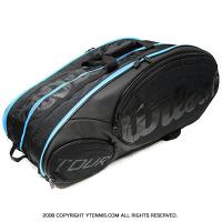 海外限定品 ウイルソン(Wilson) ツアー エクスクルーシブ テニスバッグ 15本用 ラケットバッグ ブラック/ブルー