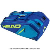 ヘッド(HEAD) 2017年モデル コア スーパーコンビ ラケット9本用 ブルー/イエロー 国内未発売 テニスバッグ ラケットバッグ