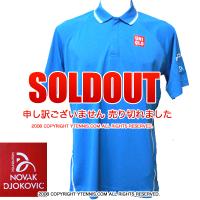 ジョコビッチファウンデーション限定 ユニクロ(UNIQLO) 2015全豪オープン優勝時着用モデル ポロシャツブルー