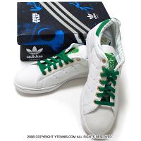 超超激レア!!!!アディダス(adidas)×スターウォーズ(STAR WARS)コラボ 限定テニスシューズ ホワイト/グリーン