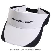 ATPワールドツアー オフィシャル商品 ラプター バイザー ホワイト/ネイビーブラック