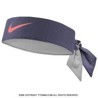ナイキ(Nike)ドライフィット ヘッドタイ ラファエル・ナダル USオープンシグネチャーモデル グレー/レーザーオレンジ